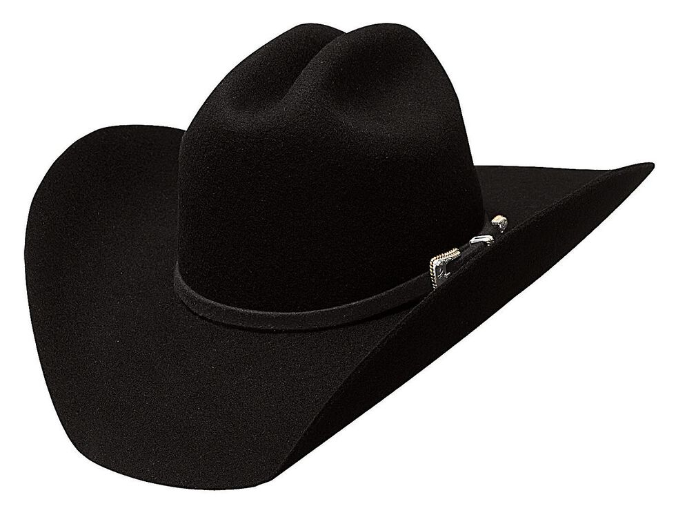 Bullhide Justin Moore Back Roads Premium Wool Cowboy Hat, Black, hi-res
