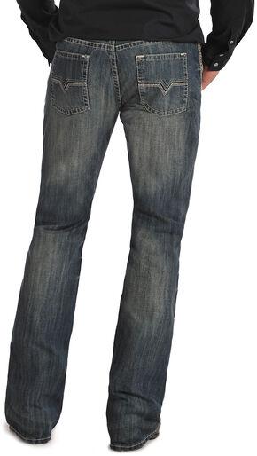 """Rock & Roll Cowboy Pistol """"V"""" Pocket  Medium Wash Jeans, Med Wash, hi-res"""