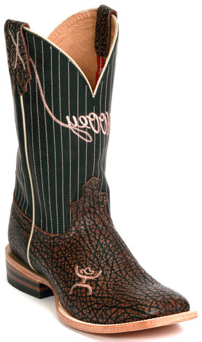 Twisted X Men's Hooey Cowboy Boots - Square Toe, Brown, hi-res