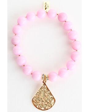 Everlasting Joy Jewelry Women's Light Pink Gold Dangle Bracelet , Light Pink, hi-res