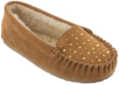Minnetonka Women's Rhinestone Slippers, Cinnamon, hi-res
