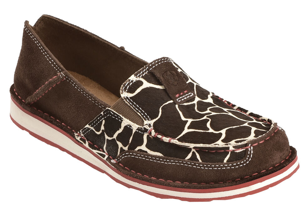 Ariat Women's Hair-On Hide Cruiser Shoes , Chocolate, hi-res