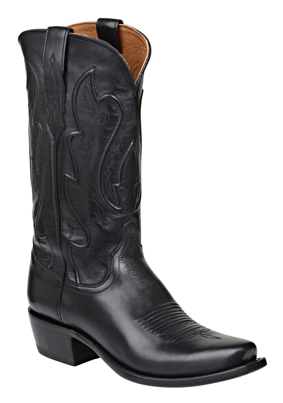 Lucchese Handmade 1883 Men's Cole Cowboy Boots - Snip Toe, Black, hi-res