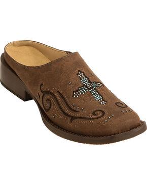 Roper Women's Vintage Brown Cross Mules , Brown, hi-res