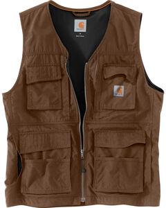 Carhartt Men's Briscoe Vest - Big & Tall, Dark Brown, hi-res