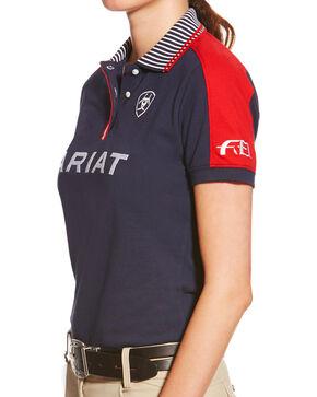 Ariat Women's Navy FEI New Team Polo, Navy, hi-res