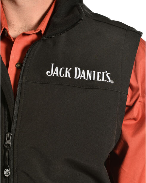 Jack Daniel's Men's Old No 7 Softshell Vest, Black, hi-res