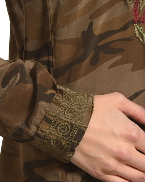 Johnny Was Women's Camo Marchella Shirt Kurta , Camouflage, hi-res