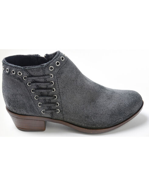 Minnetonka Women's Brenna Side Lace Boots - Round Toe, Charcoal, hi-res