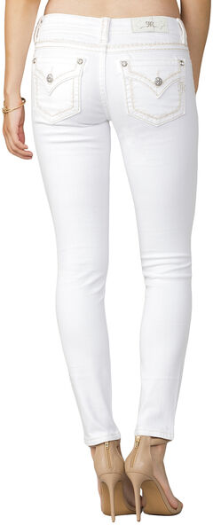 Miss Me Women's White Mid-Rise Jeans - Skinny, , hi-res