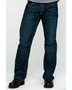 Ariat Men's Jeans - M4 Rebar Bootcut Dark Wash Relaxed Fit, , hi-res