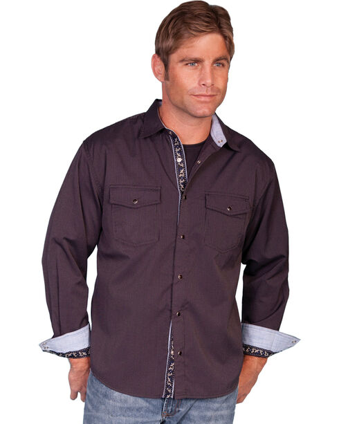 Scully Signature Western Shirt, Plum, hi-res