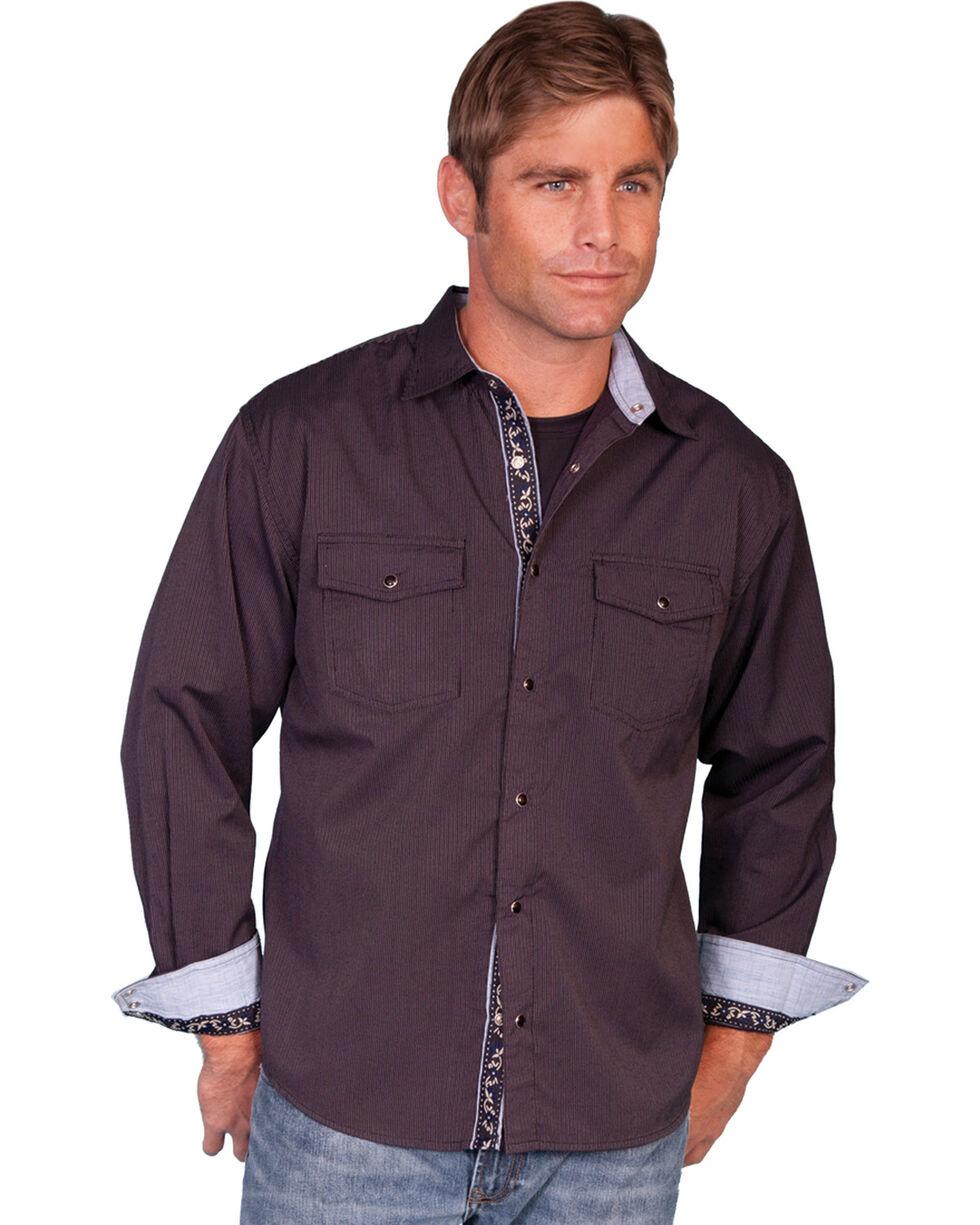 Scully Signature Western Shirt, Plum, hi-res