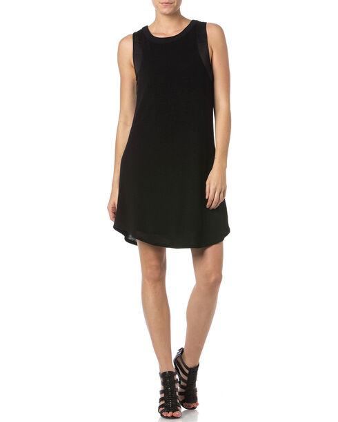 Miss Me Women's Lace-Up Back Dress, Black, hi-res