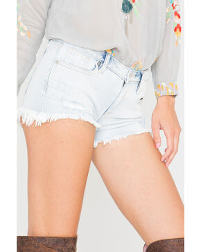Miss Me Frayed Cut Off Shorts, Indigo, hi-res