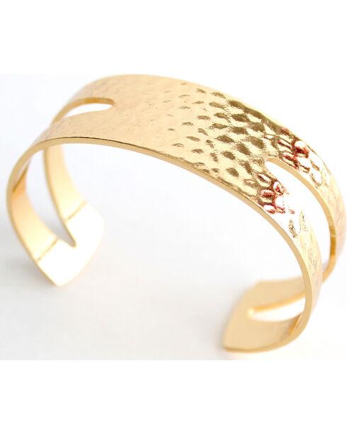 Everlasting Joy Jewelry Women's Gold Cuff Bracelet , Gold, hi-res