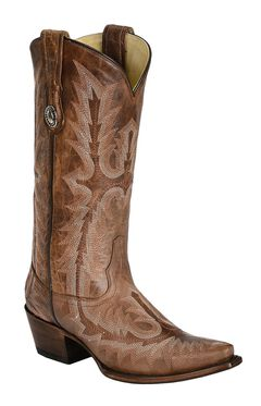 Corral Picasso Cognac Cowgirl Boots - Snip Toe, , hi-res
