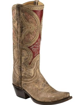Lucchese Handcrafted 1883 Leila Cowgirl Boots - Snip Toe, Beige, hi-res