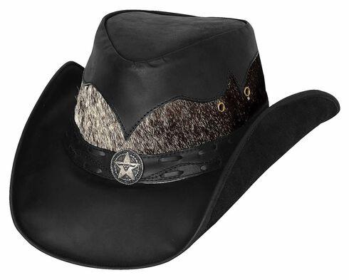Bullhide Men's Comanche Leather Hat, , hi-res