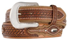 Tony Lama Classic Country Western Belt, Tan, hi-res
