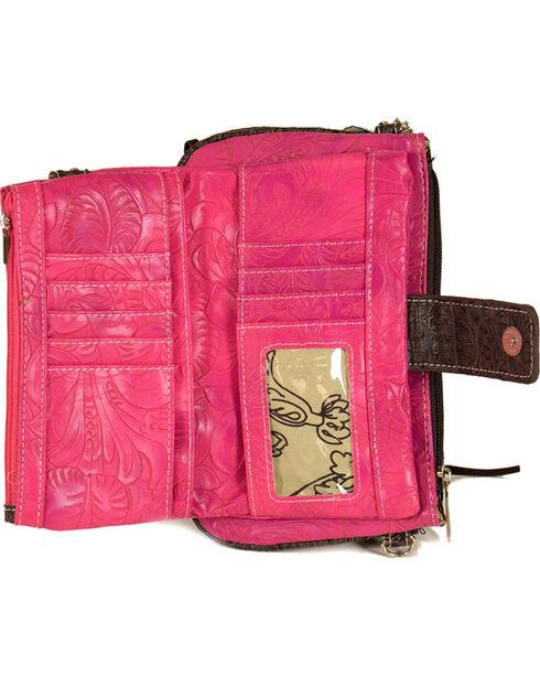 Savana Women's Side Fringe Wristlet Wallet , Pink, hi-res