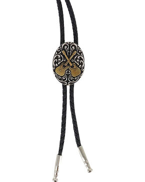Cody James Men's Oval Dueling Guitars Bolo Tie, Multi, hi-res