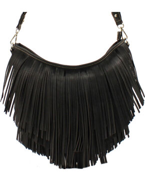 Blazin Roxx Fringe Hobo Bag, Black, hi-res