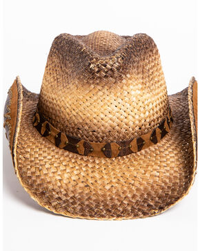 Shyanne Women's Rustic Tan Straw Hat, Brown, hi-res