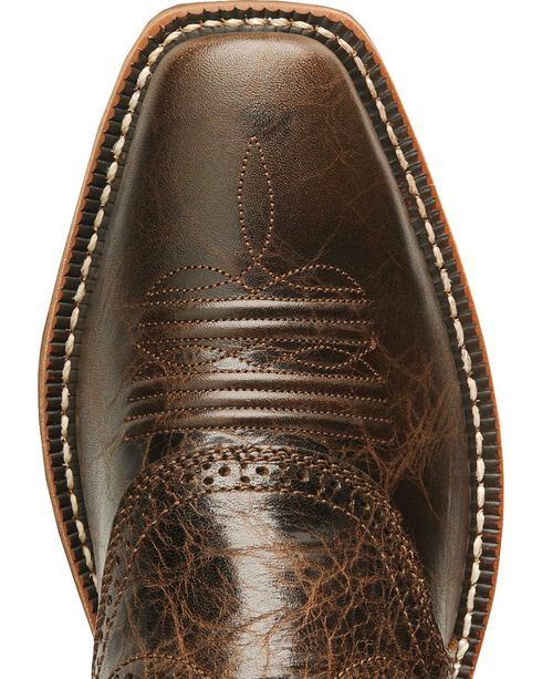 Ariat Heritage Rough Stock Brown Cowboy Boots - Square, Brown, hi-res