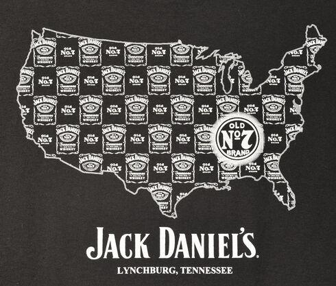 Jack Daniel's Men's United States of Jack T-Shirt, Black, hi-res
