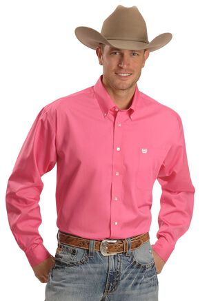 Cinch ® Solid Weave Shirt, Pink, hi-res