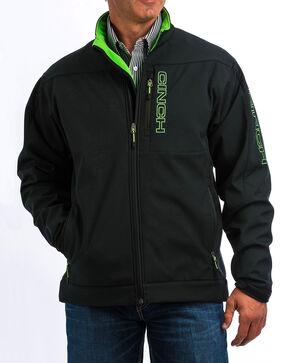 Cinch Men's Black/Green Bonded Jacket - Big, Black, hi-res