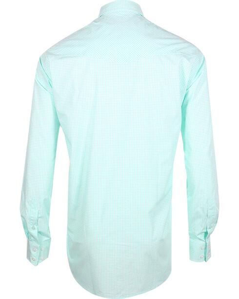 Miller Ranch Men's Check Pattern Long Sleeve Western Shirt, White, hi-res