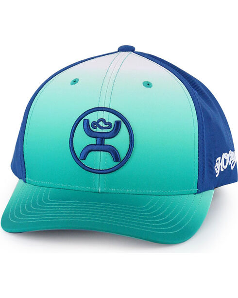 HOOey Men's Ombre Logo Ball Cap, Light Green, hi-res