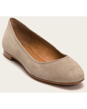 Frye Women's Ash Gloria Ballet Shoes - Round Toe , Ash, hi-res