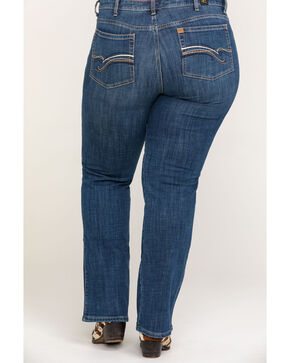 Wrangler Women's Blue Aura Instantly Slimming Jeans - Plus Size , Indigo, hi-res
