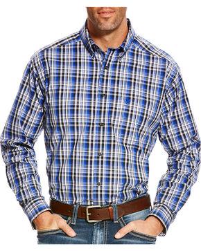 Ariat Men's Blue Brookwood Plaid Western Shirt - Tall , Multi, hi-res