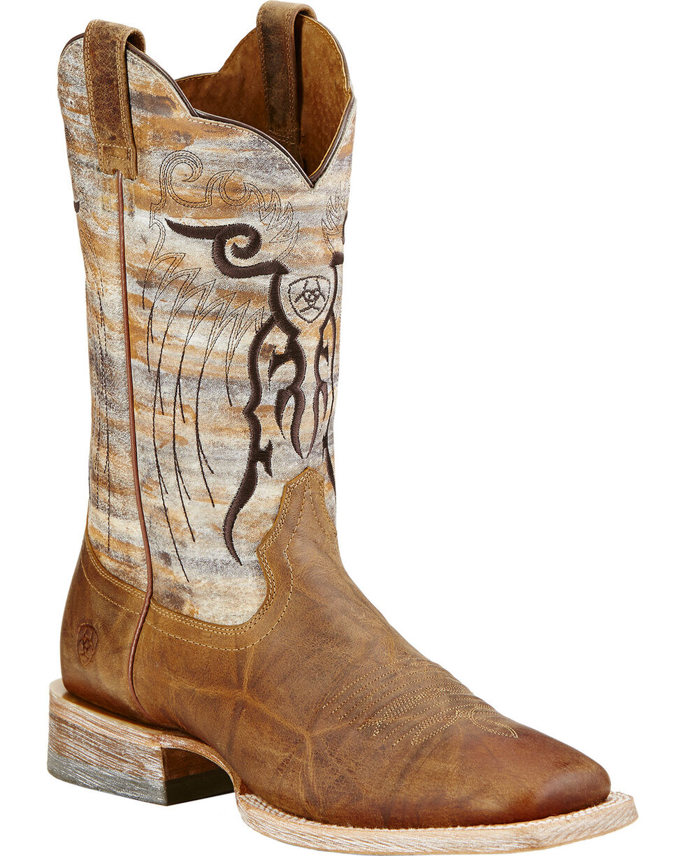 Ariat Tan Mesteno Cowboy Boots - Square Toe, Tan, hi-res