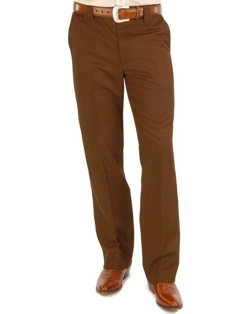"Circle S Xpand Expandable Waistline Pants - Big - Up to 50"" Waist, Chocolate, hi-res"