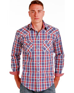 Panhandle Slim Men's Multi Mclean Classic Long Sleeve Plaid Shirt , , hi-res