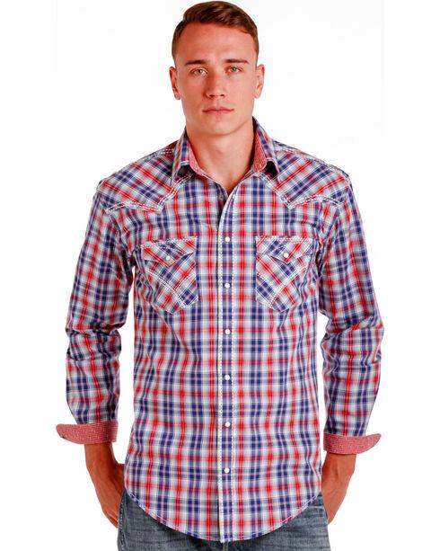 Panhandle Slim Men's Multi Mclean Classic Long Sleeve Plaid Shirt , Multi, hi-res