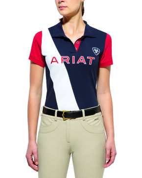 Ariat Women's Taryn Team Polo, Navy, hi-res
