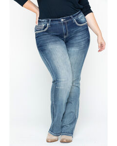 Grace in LA Women's Plain Skinny Jeans - Plus Size, Tan, hi-res