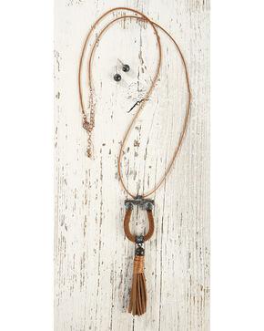 Shyanne Women's Horseshoe Tassel Jewelry Set, Rust Copper, hi-res