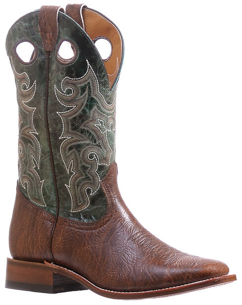 Boulet Turqueza Shoulder Cowboy Boots - Square Toe , Brown, hi-res