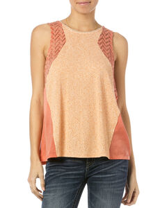 Miss Me Coral Crochet Tank Top , Coral, hi-res