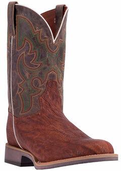 Dan Post Men's Cognac Odessa Cowboy Boots - Wide Round Toe, , hi-res