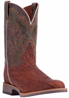 Dan Post Men's Cognac Odessa Cowboy Boots - Wide Round Toe, Cognac, hi-res