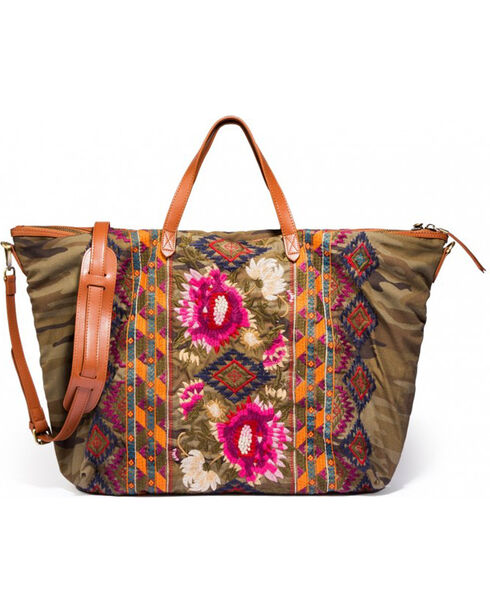 Johnny Was Women's Camo Rialto Weekend Bag , Camouflage, hi-res