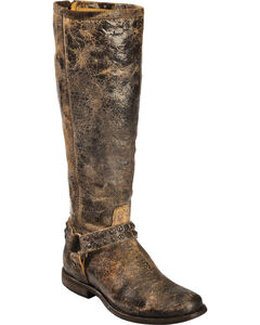 Frye Women's Phillip Studded Harness Riding Boots - Round Toe, , hi-res
